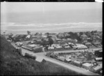 View of the township of Sumner and Sumner Beach, near Christchurch