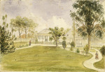 [Williams, Henry] 1792-1867. Attributed works :Old mission house at Paihia. [1843?]
