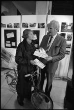 Sonja Davies and Wellington Mayor, James Belich - Photograph taken by Merv Griffiths.