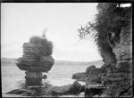 Wineglass Rock, Raglan Harbour, 1910 - Photograph taken by Gilmour Brothers