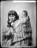 Rihipete Nikorima and baby - Photograph taken by William Henry Thomas Partington