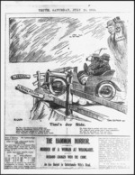 Glover, Thomas Ellis 1891?-1938 :Timi's joy ride. New Zealand Truth, 25 July 1914.