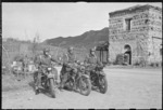 Motorcycle Dispatch Riders and Military Police from the 28th New Zealand (Maori) Battalion - Photograph taken by George Frederick Kaye
