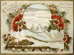 Willis, Archibald Duddington (Firm) :White Terraces destroyed by eruption 1886.  A joyous Christmas.  Wanganui ; A.D. Willis, [ca. 1886].