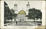 [Postcard]. New Zealand International Exhibition. No. 10,  Main entrance. Alva  Studio [1906].