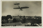 Bleirot monoplane Britannia flying over Auckland Exhibition Grounds
