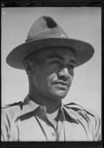 Private K Edwards of the 28th New Zealand (Maori) Battalion, Military Medal winner, Egypt - Photograph taken by George Robert Bull