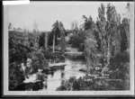 Waikato River at Cambridge, 1917 - Photograph taken by Edward John Wilkinson