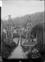 Swing bridge across the Grey River at Wallsend