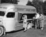 Country Library Service bus and librarians, Christchurch
