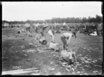 Wood chopping competition at New Zealand Base Depot Sports, Etaples