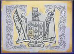 Woods, George, 1898-1963 :[Design for a New Zealand Coat of Arms. 1945?]