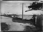 View of Fraser's Corner, Northcote, looking towards Auckland