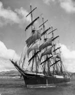 Pamir in Wellington Harbour