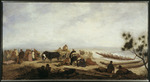 Strutt, William, 1825-1915 :[On the beach, Onehunga.  1856?]