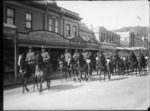 Members of the Mounted Rifles Regiment in Nelson during World War One