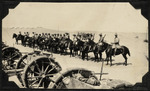 Troops of the ANZAC Mounted Division on their horses, Palestine.
