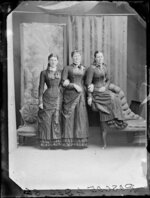 Three Roscoe sisters (?) in matching dress