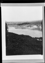 View of Whanganui and river from Durie Hill looking towards coast and Castlecliff