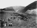 Review of Second Contingent, South African War, at Island Bay racecourse, 18 January 1900