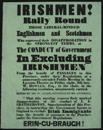 Irishmen! Rally round... [against] the conduct of Government excluding Irishmen...[1857].
