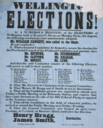 Wellington elections! At a numerous meeting ...the following resolutions were unanimously adopted...August 4, 1853.