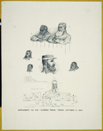 Leslie, Walter Jefferson, 1855-1915 :[The trial of Te Whiti.  Wellington]  The Evening Press  1886