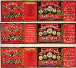 Gear Meat Company :[Three labels for Ox-tail soup; Soup and bouilli; and, Maccaroni soup]. Gear Meat Preserving & Freezing Company of New Zealand, Wellington New Zealand. [1890-1920].