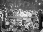 Ladies nail hammering competition, Tututawa picnic