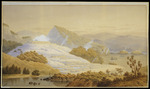 Hoyte, John Barr Clark, 1835-1913 :The White Terrace, New Zealand, destroyed 1886. [1860s?]