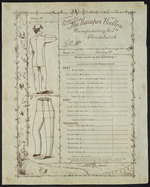 Kaiapoi Woollen Manufacturing Company Ltd :Order for Kaiapoi Woollen Manufacturing Co Ltd, Christchurch, from Mr .... ... Please make as per following - Directions for self-measuring [Blank order form with space for filling in measurements]. Whitcombe & Tombs, Lim[ite]d. lith. [ca 1886].