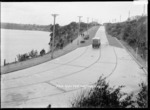 Main road from Northcote Wharf, Auckland