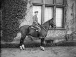 Herbert Ernest Hart on horseback, Bruck, Germany