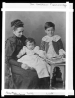 Mary Ann Moorhouse with her sons William and Edward