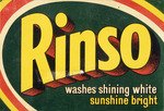 Reckitt and Colman New Zealand :[Rinso packet. Front. 1950s?].