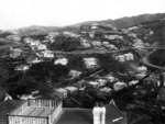 Part 2 of a 3 part panorama looking south over Karori and Northland