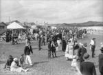 Crowded beach at Lyall Bay, Wellington