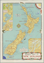 Tourist map of New Zealand