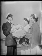 Nurses receiving film at the TEAL base