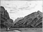 Douglas, Charles Edward, 1840-1916 :Looking down Copland River. [1870-1900].