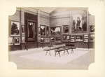 Gallery interiors hung with paintings, at the New Zealand and South Seas Exhibition, Dunedin, 1889-1890