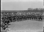 The massed bands playing at the New Zealand Divisional Band Contest, France