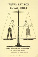 Council for Equal Pay and Opportunity :Equal pay for equal work. A lower rate for the same or similar work is ... a threat for men workers ... an injustice for women workers ... a boon for employers. 1961.