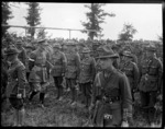 General Godley reviews the New Zealand troops after the Battle of Messines, Belgium