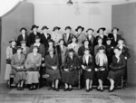 Group portrait taken at the first conference of New Zealand hospital matrons, Wellington Hospital
