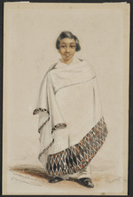 Angas, George French, 1822-1886 :Hemi, grandson of Pomara, Chief of the Chatham Islands [Between 1844 and 1846]