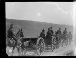 Howitzer battery on the march, World War I