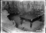 Soldiers playing billiards inside the YMCA hut in France