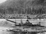 Gold dredge on the Buller River, West Coast