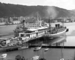 Overseas terminal, Wellington, with the ships Rangatira and Southern Cross